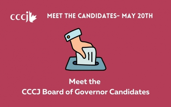 Meet the Candidates on May 20th - CCCJ 2021 Election